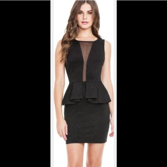 b5d63da155b Guess Dresses   Skirts - GUESS black dress sexy sheer peplum prom wedding